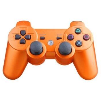 Джойстик для PlayStation 3 Беспроводной (Dualshock 3) Оранжевый