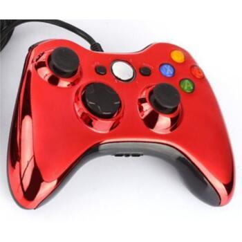 Джойстик для XBOX 360 (Проводной/Дубликат) Красный хром